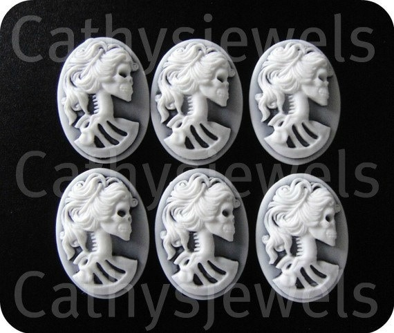 Day Of The Dead Cameos Set Of Six  25x18