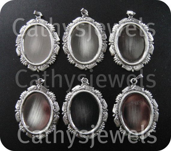 Fancy Cameo Cab Setting With Bail 25x18 Set Of Six