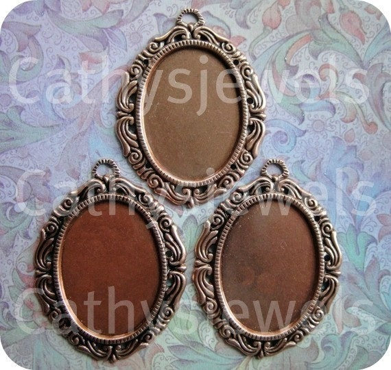 Cameo Fancy Copper Mountings 30x22
