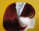 SALE Light Blue Lace Headband