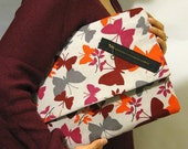 Butterfly Print Corduroy XL Ovesized Clutch ON SALE