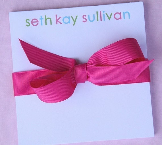 Personalized Note Pad - 4x6 Multi-Colored Name
