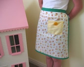 Childrens Apron - green and yellow