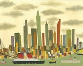 Manhattan.  Limited edition 16x20 print by Matte Stephens.