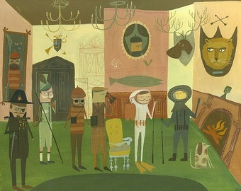 Adventurer's Club.  Limited edition print by Matte Stephens.