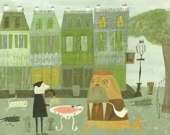 Monsieur Benoît.  Limited edition print by Matte Stephens.