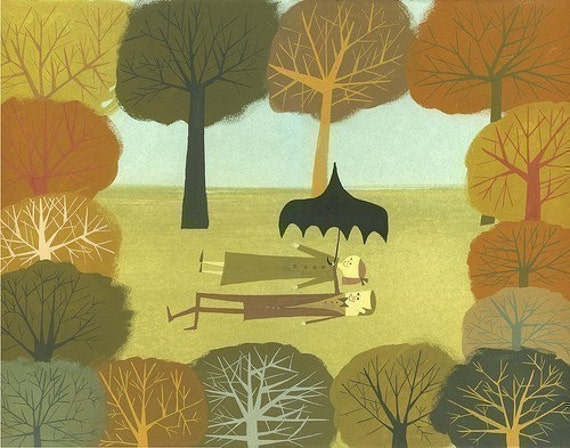 Forest.  Limited edition print by Matte Stephens