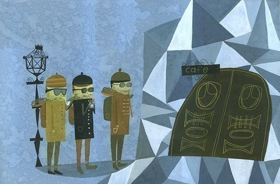 Alfred,Louis and Francois. Limited edition print by Matte Stephens.