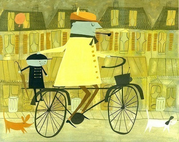 Monsieur Hulot Mon Oncle. 16x20 limited edition print of an original painting