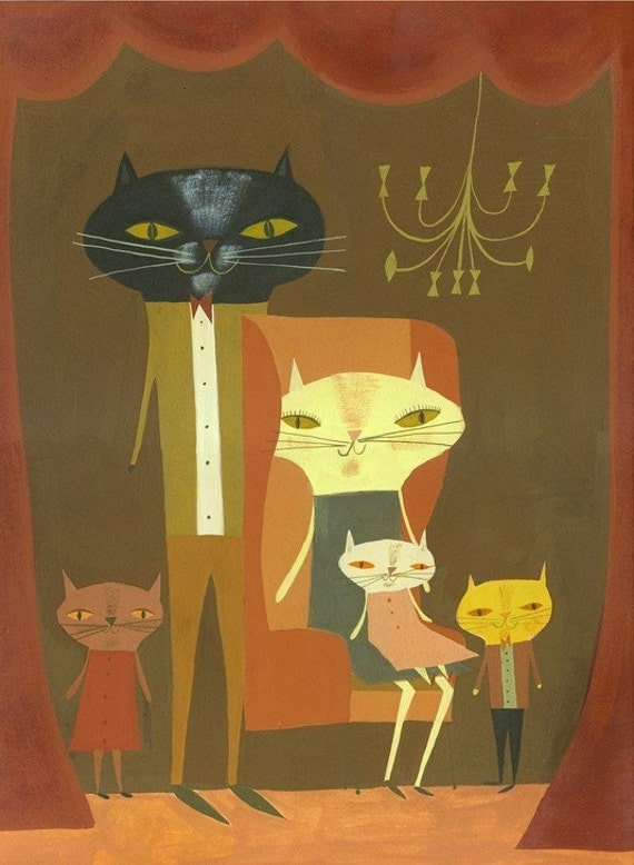 Family Portrait.  Limited edition 11x14 print by Matte Stephens.