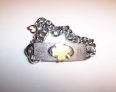 Vintage Silver Bracelet with Shamrock