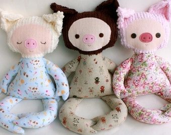 SALE Parker Pig PDF Doll Pattern