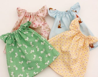 Pretty Peasant Dress PDF Pattern Doll Clothing