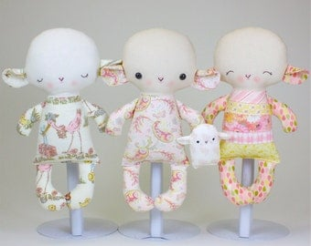 SALE Lamb Baby PDF Doll Pattern