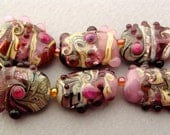 California Crafts - Bejeweled Shards handmade lampwork bead set of 14