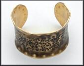 ANCIENT ARTIFACT CUFF - Handforged Antiqued Hammered Bronze Cuff Bracelet