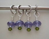 Pretty in Purple Swarovski Crystal Stitch Markers