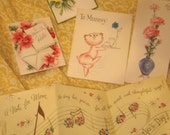 Vintage Mothers Day Cards - Set of 5