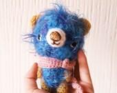 Furry little blue amigurumi