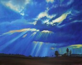 Original Oil Painting-Wisconsin Field