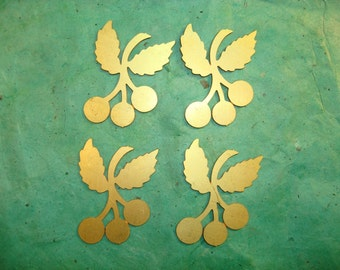 Brass Photoetch Cherries Findings