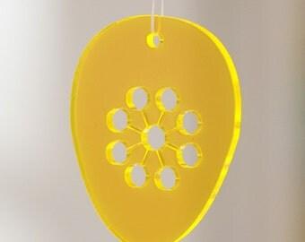 5 easter eggs - in neon orange plexiglas