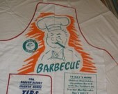 Vintage Barbecue Cookout Apron