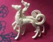Art Deco Dogs Brooch Ivory