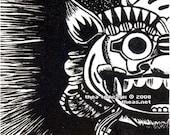 Barong  Mask OE ACEO\/ATC Art Card Print