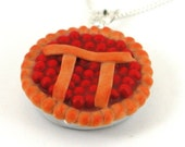 Pi pie necklace : cherry