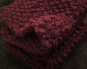 Maroon Wash Cloth 2 Pack