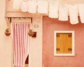 Laundry day - Fine art polaroid photograph - Italy - Burano