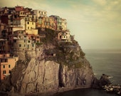 Italy Photography, Cinque Terre Photograph, Travel Print, Manarola Houses, Italy Art Print, 8x8 - Postcard from the Edge