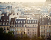 """Paris Photography, Paris Rooftops at Sunset, Large Wall Art Print, Paris Decor, French Decor, Fine Art Photography """"Mon Reve"""""""