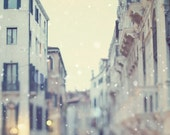 Venice photograph, Winter White, Snow, Romantic Travel Photography, Soft Pale Pastels - Sotto Voce - EyePoetryPhotography