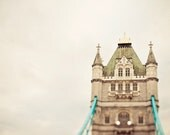 London Print, Tower Bridge, Travel Photography, England, Whimsical, Neutral Wall Decor, Brown - Dear Old London