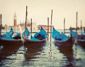 Venice Art, Venice Photography, Italy Art Print, Gondolas, Romantic Art Travel Photography, Italian Wall Decor, Grand Canal - Sploosh