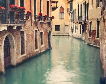 Venice Print, Canal in Venice Photography Print, Fine Art Prints Italy, Travel Gift, Green Italian Decor, Large Wall Art - When in Venice