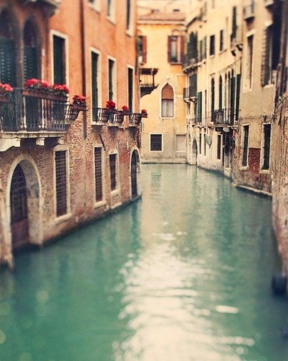 Venice Print, Venice Canal, Italy Art Print, Venice Photography, Italian Decor, Large Wall Art, Travel Photo, Green - When in Venice