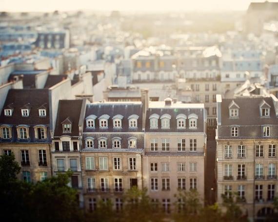 """Paris Photography, Paris Rooftops, Travel Photography, Large Wall Art, Paris Decor, French Decor, Fine Art Photography """"Mon Reve"""""""