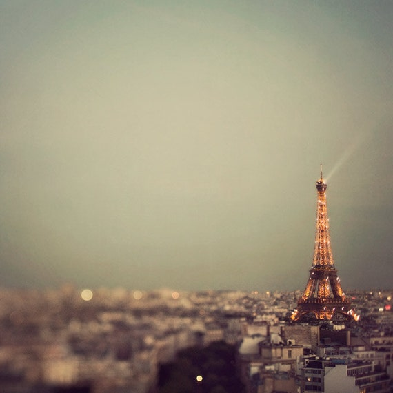Paris Photograph - Paris is a Diva - Photo of Eiffel Tower at Sunset, France, Autumn, Fall, Neutral Colors, Travel Photography