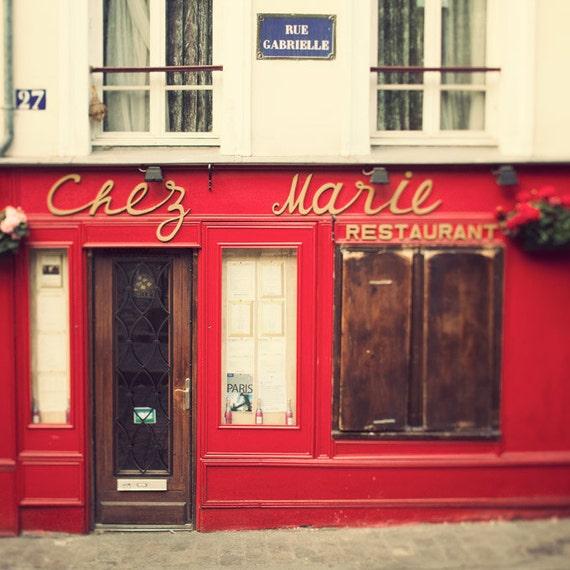 Items similar to chez marie paris photo romantic travel for Restaurant chez marie marseille