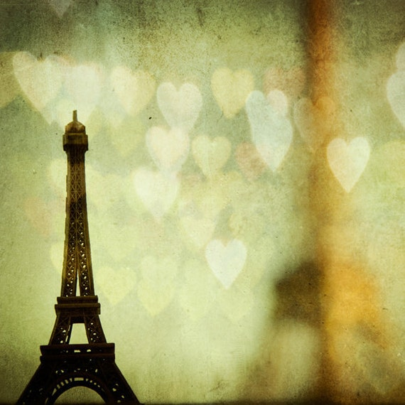 50% OFF - Paris photography - Paris is for Lovers - Eiffel tower, Hearts - fine art travel photograph