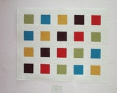 Small Quilt in Contemporary Cabana Colors