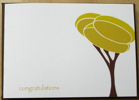 Growth Tree - folded congratulations notecard