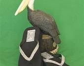 Genuine Swarovski Crystal High Flip Flops - High Quality - Black / The Hut Flip flops - Choose Your Size 6-10