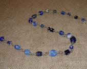 delft blue second chance beaded necklace