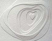 i carry your heat with me(i carry it in my heart)-- hand embossed card