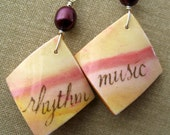 Rhythm and music earrings