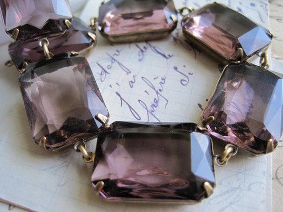 Summer Violets~ Light purple statement necklace, chunky purple necklace, collet, Jane Austen, Anna Wintour necklace, sacred cake.